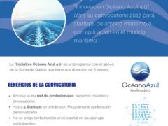 "Programa ""Innovación Océano Azul 4.0"" 2017 de apoyo a startups de la industria 4.0 de ámbito marítimo"