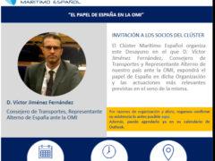 Anen Informa El papel de España en la Organización Marítima Internacional (OMI), desayuno de trabajo del Cluster Marítimo Español (CME)